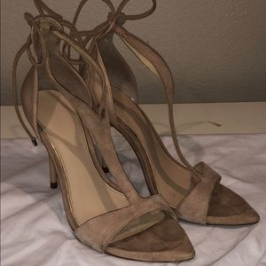 Zara nude tied heels